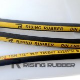 Rubber Hydraulic Hose with Smooth gold Wrapped Surfaces