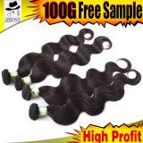 Alta qualidade e bom preço do cabelo de tecelagem profundo indiano