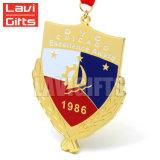 Таможня ваши медаль медальона спорта золота металла почетности конструкции с тесемкой почетности цветастой красной