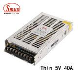 SMB Smun-200-5 5 VCC 200W 40un mince Alimentation à découpage SMPS
