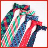 Lazo colorido de encargo al por mayor del cuello del telar jacquar de los hombres del lazo de la Navidad