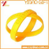 Bracelet de silicones estampé par logo fait sur commande, bracelet pour le cadeau promotionnel (YB-SM-12)