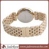 Étanche montre en or, les femmes les montres à quartz, Lady montre-bracelet en acier inoxydable