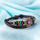 Hotsale Form-Blumen-Leder-Seil-Frauen-Armband