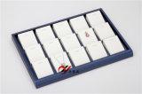 Sitzschmucksache-Bildschirmanzeige-Tellersegment des PU-Leder-20, das Halskette/Anhänger anzeigt