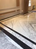 Домашняя оформление Bookmatch мраморными плитками на полу плитка салона