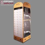 Présentoir en bois de lunetterie en verre ou de lunettes de soleil d'éclairage LED