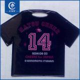 3D Tシャツの形の柔らかい荷物の札の習慣PVC名札