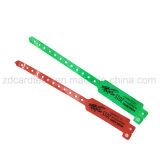 Wristband descartável macio do Hf RFID da freqüência ultraelevada do PVC para eventos dos concertos