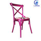 판매를 위한 의자를 식사하는 튼튼한 금속 프레임 옥외 가구