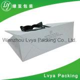 Bolso de compras de papel, bolsa de papel impresa insignia de encargo con las manetas
