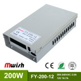 12V16.5A 200W Wechselstrom Stromversorgung zur Gleichstrom-IP44 SMPS LED