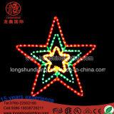 LED-Beleuchtung 2D fünf Stern-Motiv-Licht Chriatmas Dekoration-Licht