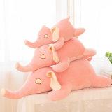 極度の柔らかいプラシ天象の動物の抱きしめる枕
