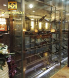 Gabinetes de armazenamento de vidro feitos sob encomenda do vinho para a venda