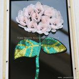 Änderung am ObjektprogrammSequin der Blumerhinestone-Stickerei-3D bördelt Kristallbekleidungszubehör