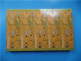 パッドの多層PCB中間Tg Fr4黄色いカラーそしてHASL