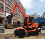 Capacidad 0,25 cbm Excavadora de ruedas pequeñas para la venta