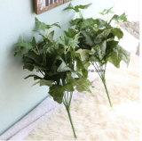 Низкая MOQ искусственных цветов высокого качества Цветы искусственные семь глав государств айви листьев растений для дома украшения