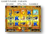Faraon Het Gokken van de Machine van het Spel van de Machine van het Spel van de groef Muntstuk In werking gestelde Machine