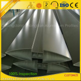 Lumbrera de aluminio oval al aire libre revestida modificada para requisitos particulares de la protuberancia del polvo de PVDF