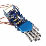 O produto novo 5 Dof inclui jogos do braço do prendedor dos dedos do Humanoid cinco da mão do robô do metal dos servos para jogos de Arduino