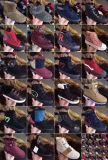 Le coton de femme amorce les chaussures mélangées d'action de modèle
