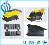 Rampa fijable de goma durable del cable de 5 canales al aire libre