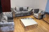 現代イタリアの居間の家具のホテルのレセプションのステンレス鋼の足のソファー2のシート
