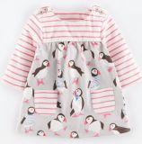 子供3-8yrsのための女の赤ちゃんの綿のLongsleeveの普段着の漫画動物