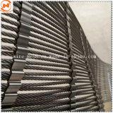 Flexible de acero inoxidable AISI 304 Ferruled Malla de cable