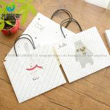 Новый стиль портативный дешевые из переработанной бумаги для хранения упаковки с ручками и подушек безопасности