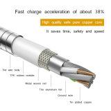 De alta calidad baratos Wholesales Metal fuerte cable de datos USB para el iPhone