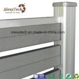 WPC Board e Material da estrutura de alumínio paralela de jardim composto de madeira