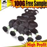 Commerce de gros Top Grade profonde cheveux vierges indiennes d'onde