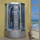 角の浴室の屋内シャワー室の蒸気を完了しなさい
