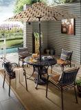 屋外の/Rattan/セットされる庭/テラス/ホテルの家具のアルミニウム椅子及び表(HS 3003C&HS 6177DT)