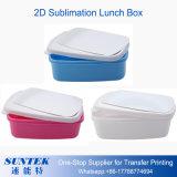 cadre de déjeuner en plastique de 2D blanc de la sublimation 3D blanc/bleu/rose