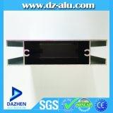 A Guiné anodizou a porta desobstruída Buidling que do indicador o alumínio material expulsou perfil