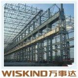 鋼鉄の梁材料が付いている携帯用フレームの鉄骨構造の建物
