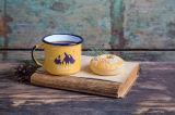 Qualität 12oz SGS-kundenspezifische Decklack-Kaffeetasse, Lagerfeuer-Kaffeetasse, gedruckter Metallzinn-Becher