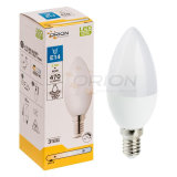 Certificación CE E27 E14 Mini vela bombilla LED 5W C37 Bombilla LED