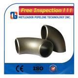 Montaje del tubo de acero al carbono Seamless codo con ASME B16.9