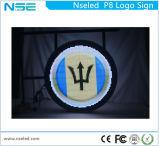 Sinal do logotipo populares Display LED redondos com logotipo estampado (P8mm)