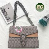 Sacchetto di spalla stampato Designer di cuoio reale 100% alla moda delle donne del fiore della signora Handbags Classical New per Emg5177 all'ingrosso