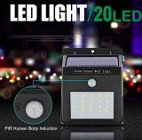 SMD LED im Freien angeschaltenes wasserdichtes Bewegungs-Fühler-Wand-Solarlicht