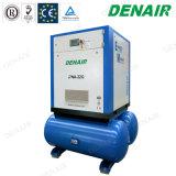 Le compresseur d'air à vis mû par courroie industriel ajoutent sur le réservoir