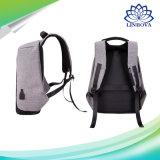 USBの充満ラップトップビジネス男女兼用のナップザックの肩の防水女性旅行袋との方法キャンバスの人のバックパックの反盗難