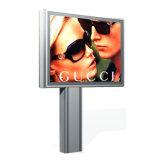 L'extérieur éclairé arrière LED de Panneaux publicitaires Panneaux en acier solaire