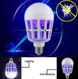 15W 110V 220V E27 Lamp van de Bal van de Moordenaar van de Mug van de LEIDENE de BinnenInsecten van het Ongedierte Vliegende UV